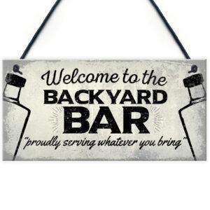 Backyard Bar Garden Sign